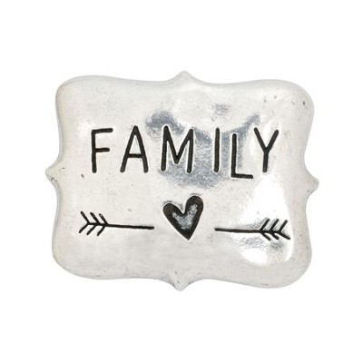 Family Pewter Magnet  -