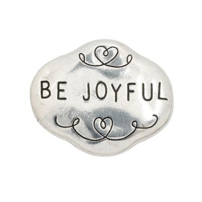 Be Joyful Pewter Magnet  -