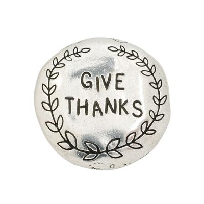 Give Thanks Pewter Magnet  -