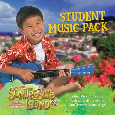 VBS 2014 SonTreasure Island- Student Music Pack: Music 10 Pack CDs with all of the Son Treasure Island Songs!  -