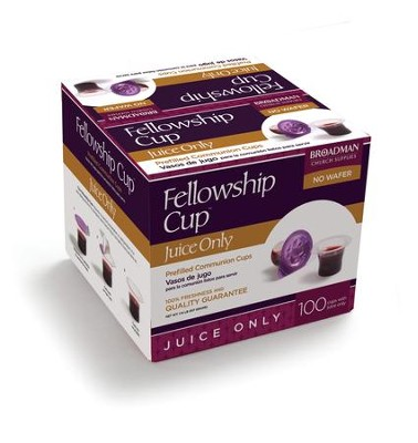 Fellowship Cup Juice-Only Prefilled Communion Cups, Box of 100  -