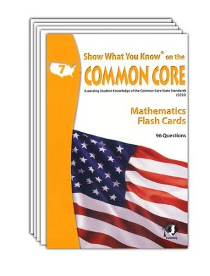 Show What You Know on the Common Core Mathematics Grade 7 Flash Cards  -