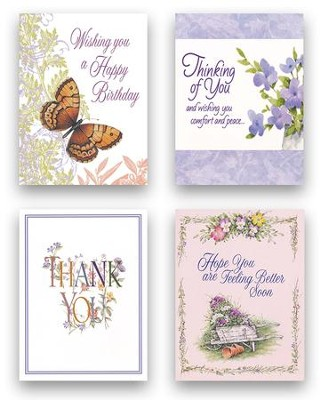 Floral All Occasion Blank Note Cards   -