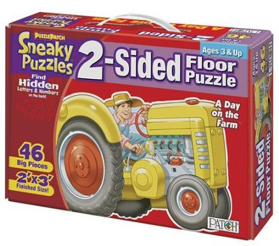 Day on the Farm Big Sneaky Floor PUzzle   -