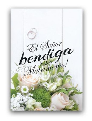 Matrimonio, tarjeta (Numeros 6:24)  Marriage, card (Numbers 6:24)   -
