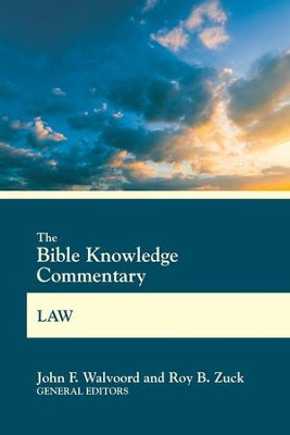 Bible Knowledge Commentary Law  -     By: John F. Walvoord