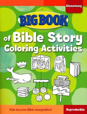 Big Book of Bible Story Coloring Activities for         Elementary Kids  -