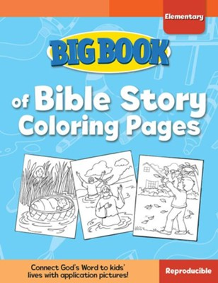 Big Book of Bible Story Coloring Pages for Elementary Kids  -