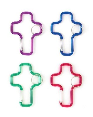 Cross Clip Key Ring, Pack of 12  -