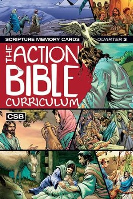 CSB Action Bible Scripture Memory Cards Q3  -
