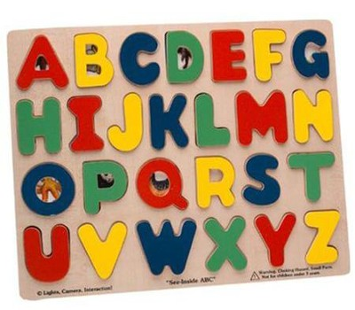 See-Inside ABC Wooden Puzzle   -     By: Melissa & Doug