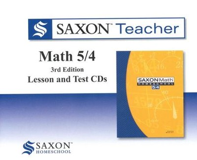 Saxon Teacher for Math 5/4, 3rd Edition on CD-Rom    -