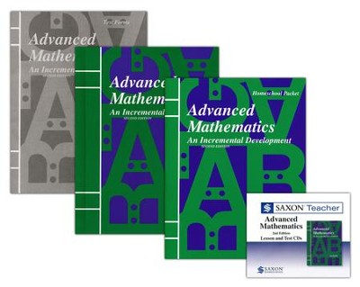 Saxon Advanced Mathematics Homeschool Kit & Saxon Teacher CD-ROMs, Second Edition  -