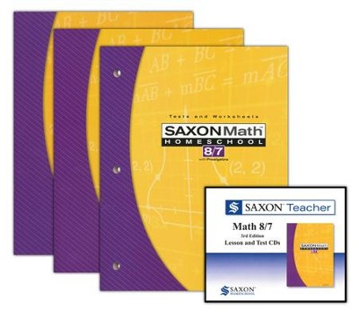 Saxon Math 8/7 Homeschool Kit & Saxon Teacher CD-ROMs, Third Edition  -