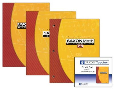 Saxon Math 7/6 Homeschool Kit & Saxon Teacher, Fourth Edition  -