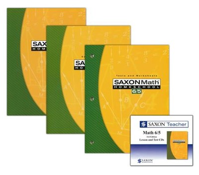 Saxon Math 6/5 Homeschool Kit & Saxon Teacher CD-ROMs, Third Edition  -