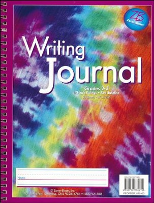 Zaner-Bloser Newsprint Writing Journal, Classic Tie-Dye Grades 2-3  -