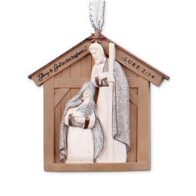 Nativity Christmas Ornament  -