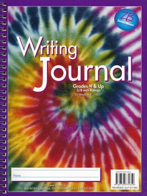 Zaner-Bloser Newsprint Writing Journal, Swirling Tie-Dye Grades 4+  -