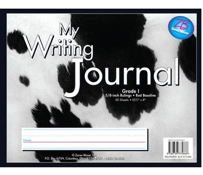 Zaner-Bloser Newsprint Writing Journal, Holstein Cow Grade 1  -