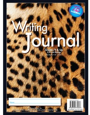 Zaner-Bloser Newsprint Writing Journal, Leopard Grades 4+  -