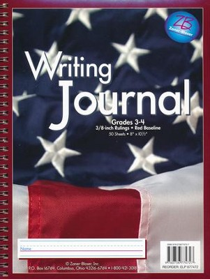 Zaner-Bloser Newsprint Writing Journal, Old Glory Grades 3-4  -