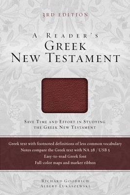 A Reader's Greek New Testament: Third Edition / Special edition - eBook  -     By: Richard J. Goodrich
