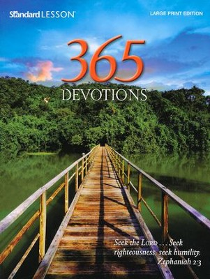 365 Devotions Large Print Edition 2015  -