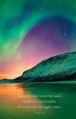 Aurora Borealis Scripture Series Bulletin, Regular Size (Package of 50)  -