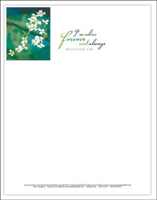 I'm Alive Easter Dogwood Letterhead 2015 (Package of 50)  -