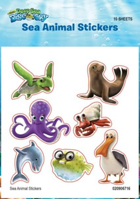 Deep Sea Discovery VBS: Sea Animal Stickers, 10 sheets   -