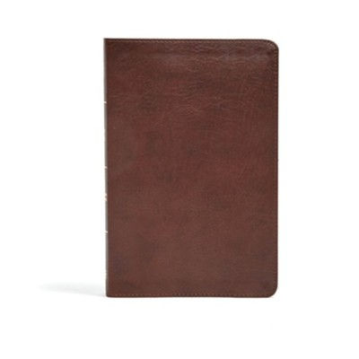CSB Ultrathin Bible, Brown LeatherTouch  -