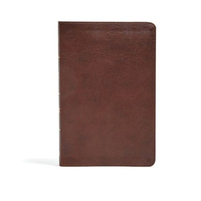 CSB Ultrathin Bible, Brown LeatherTouch, Thumb-Indexed  -