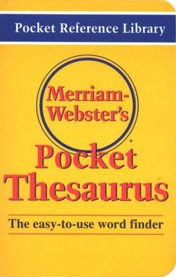 Merriam-Webster's Pocket Thesaurus   -