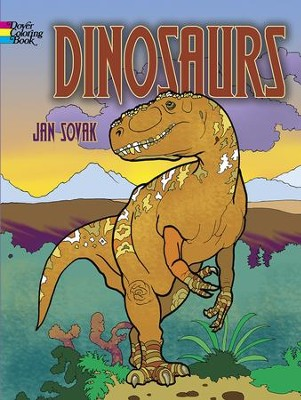 Dinosaurs Coloring Book  -     By: Jan Sovak