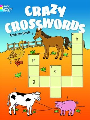Crazy Crosswords Activity Book  -     By: Anna Pomaska