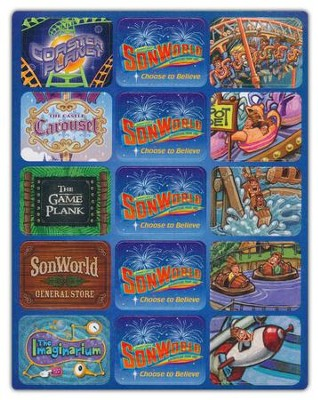 SonWorld Adventure Assortment Stickers, package of 150  -