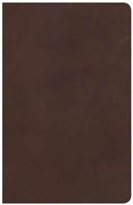 NKJV Large Print Personal Size Reference Bible, Brown Genuine Leather, Thumb-Indexed  -