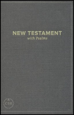 CSB Pocket New Testament with Psalms, Black, Case of 24    -