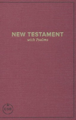 CSB Pocket New Testament with Psalms, Burgundy, Case of 24  -