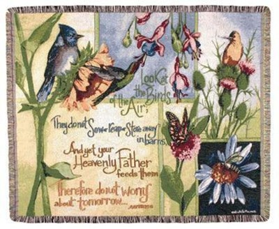 Birds of the Air Tapestry Throw   -     By: Michelle Palmer