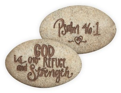 Psalm 46:1, Pocket Stone  -