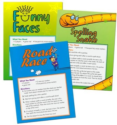 Zaner-Bloser Spelling Connections Grade 1: Game Mats  -
