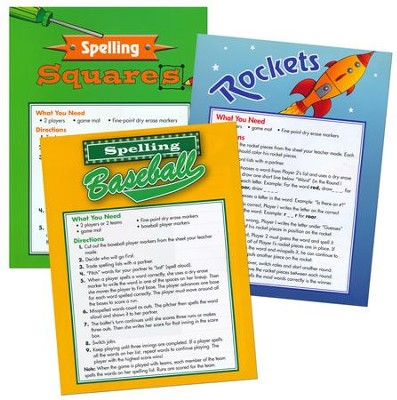 Zaner-Bloser Spelling Connections Grade 3: Game Mats  -