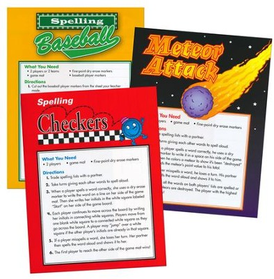 Zaner-Bloser Spelling Connections Grade 4: Game Mats  -