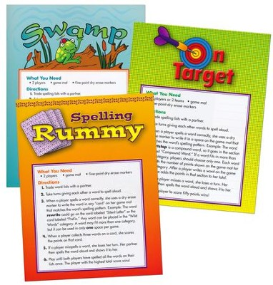 Zaner-Bloser Spelling Connections Grade 6: Game Mats  -