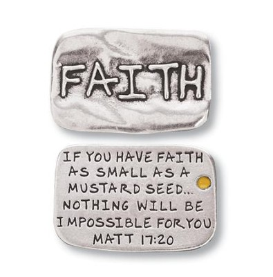 Scripture Pocket Reminder Token, Faith, Matthew 17:20  -