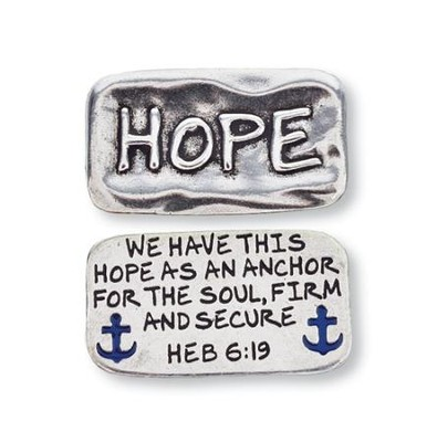 Scripture Pocket Reminder Token, Hope, Hebrews 6:19  -
