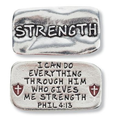 Scripture Pocket Reminder Token, Strength, Philippians 4:13  -