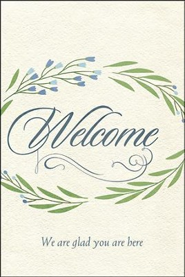 Welcome We Are Glad You Are Here - Welcome Folder (Pack of 12)  -